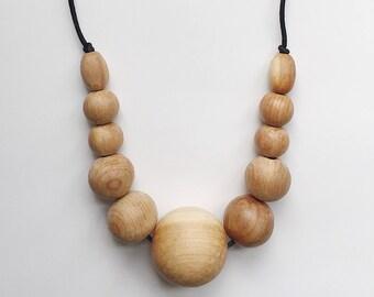 JUNI // Juniper Wood Teething Necklace