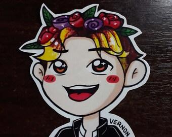 S212 Vernon Flower Crown Sticker