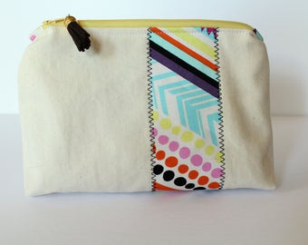 "7.5"" Canvas Zippered Pouch"