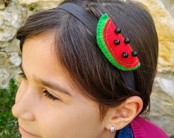 Cute Watermelon Headband, Girls Headband, Hair Accessories, Watermelon
