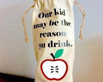 Teacher Wine Bag