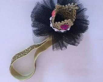 Custom Made Headband, Baby Headband, Baby girl headband, Hair Bows, Baby Hair Bows, Infant Headband, Toddler Headband, Headband with Crown