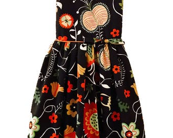 Retro custom-made heavy cotton Secret Garden Dress