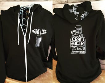 Craft Beer Zip Up Hoodie
