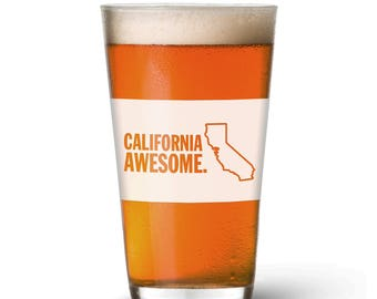California Awesome Pint Glass