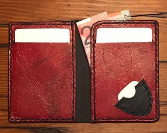 Slim Kangaroo Leather Wallet - with pic pocket.
