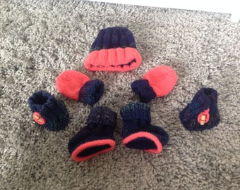 Hand knitted boys set