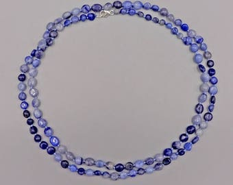 "40"" Blue Aventurine Necklace"