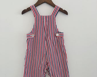 Vintage 60s Health-Tex Stripe Corduroy Overalls