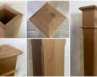 Knotty Alder Box Newel - Chamfer