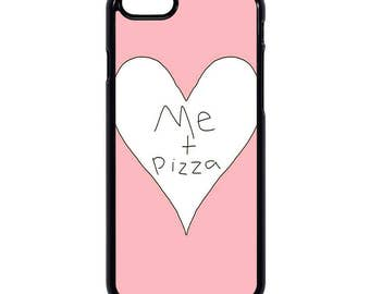 """Pink """"Me heart pizza"""" Hard iPhone case 5/5s/5se/5+/6/6s/6+/7"""