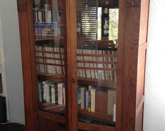 Cabinet bookcase display cabinet vintage wooden retro Cabinet antique antiques