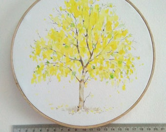 "Summer tree on 8""hoop."