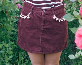 Mini corduroy skirt