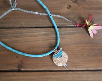 Freebird Wine Cork Necklace