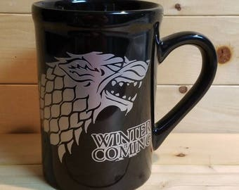 Winter is coming, game if thrones mug