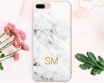 Personalized iPhone Case Custom Case iPhone 7 Plus Cover Marble Case iPhone 6S Case iPhone iPhone 5 Case iPhone SE Case iPhone Stone CA_008