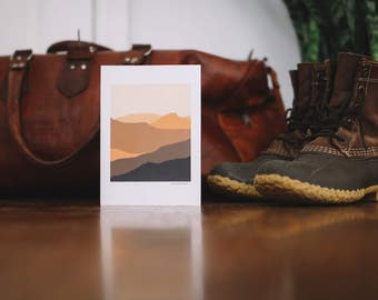 Sand Hills Mountain Note Card