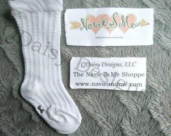 Baby Knee High Socks - Breathable Knee Highs - Baby Tights - White Knee High Socks - Toddler Knee Highs - Mesh Socks - Chaussettes Hautes