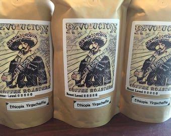 Fresh Roasted Ethiopia Yirgacheffe Dark Roast Coffee