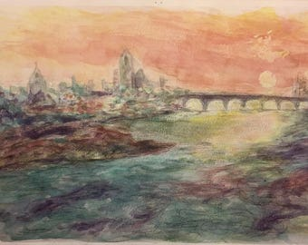 Sunset Bridge in France