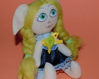 Elf girl, handmade toy, natural toy