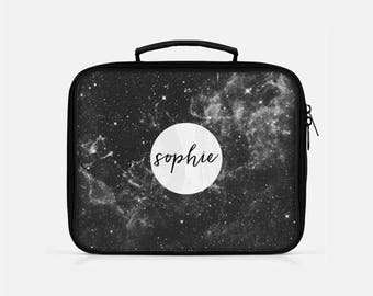 Galaxy Lunch Box, Space Lunch Box, Black Lunch Box, Personalized Lunch Bag, Stars Lunch Box, Lunch Box Adult, Lunch Box for Men, Lunchboxes