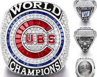 2016 Chicago Cubs Championship Ring In Wooden Box..Replica. Can Be Customized With Your Name .
