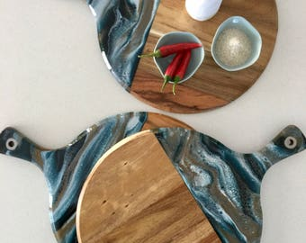 Resin Art Serving Boards