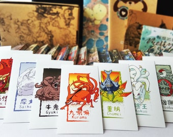 Naruto Bookmark - Tailed Beast Series (Set of 9) - Exclusive collectible items