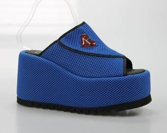 90's vintage Luichiny plateau Sandals size. 41