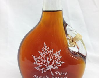 Pure Maple Syrup in etched basquaise