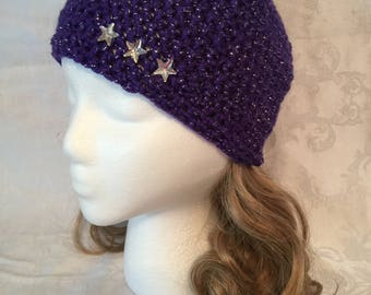 Purple Ear Warmer Headband