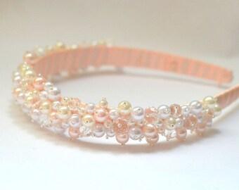 Pearl tiara, Haircrown, wedding hair accessories