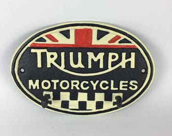 Triumph cast iron key holder