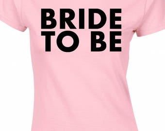 Bride to be,hen party t-shirt,pink and black,can be personalised free of charge