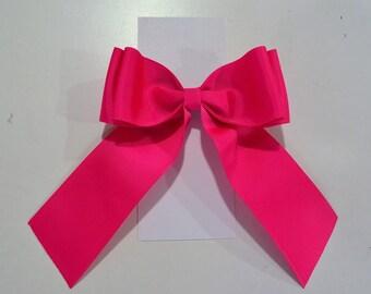 Hot Pink Ribbon Baby Bow