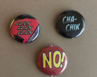 CHA-CHIK! Comic Book Pins