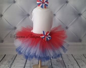 Red White Blue 4th of july tutu