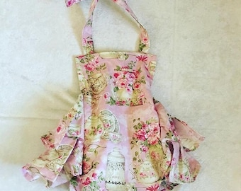 Tea party, romper,sunsuit, boutique, nb, 3,6,9,12,24 months, 2,3t