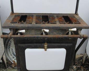 Vintage antique porcelain gas stove