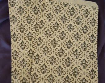 Damask print paper bags