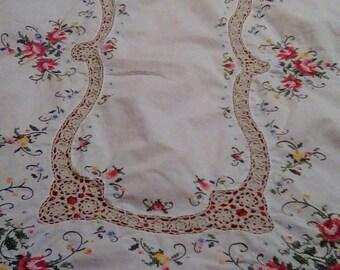Vintage needlepoint tablecloth