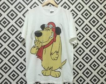 Rare!! Vintage 90's WACKEY RASER By Hanna-Barbera Production Movies Animation Tshirt White Colour Size XLarge