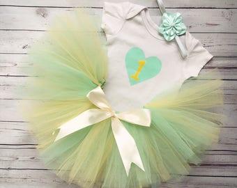 Cute Birthday Tutu Outfit Set for Baby Girl, Tutu Set, Beautiful Tutu, Baby, Tutu