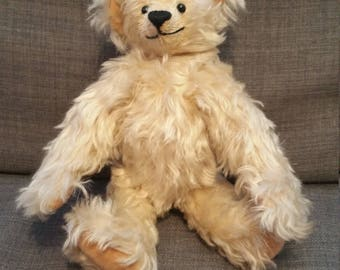 One-of-a-kind Hand-made Collector's Mohair Teddy Bear