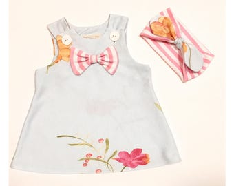 Baby Girl Dress & Headband Set | 0-3 months | Summer Dress | Newborn | Shower Gift |