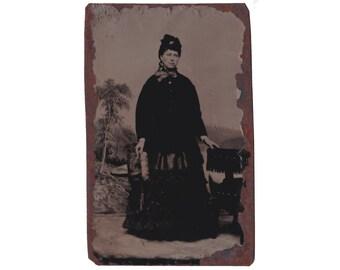 Tintype / Ferrotype: Lady Standing