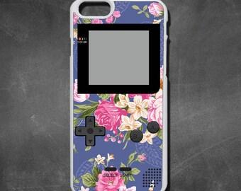 Retro floral gameboy iphone 7 case, iphone 7 plus case, iphone 6/6s , iphone 6s  case, iphone 6 plus case, iphone 5/5s case, 5c case, 4/4s