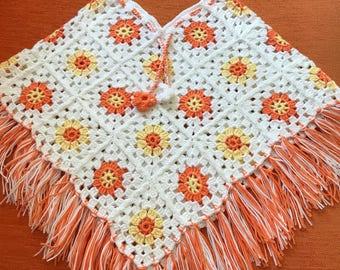 kids ponchos, handmade crochet ponchos (2-3 years old)